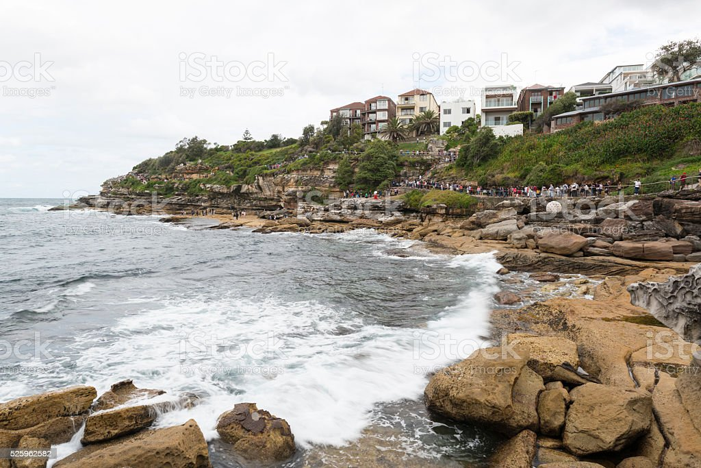 Bondi and Tamarama Beaches Coastal Path, Sydney Australia stock photo