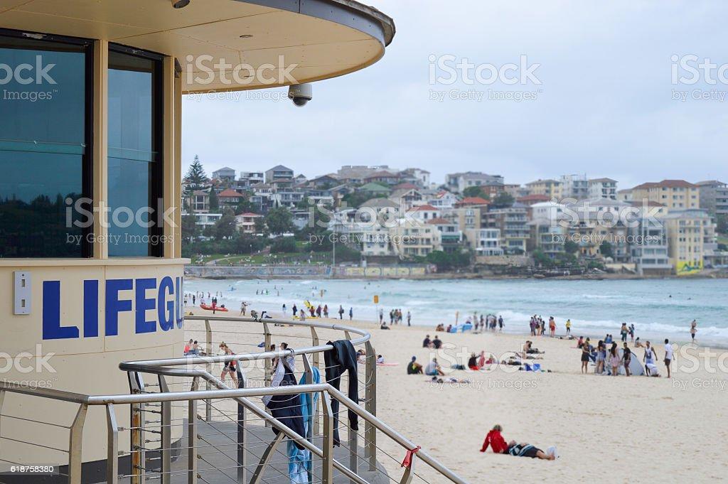 Bondi Beach Lifeguard Station royalty-free stock photo
