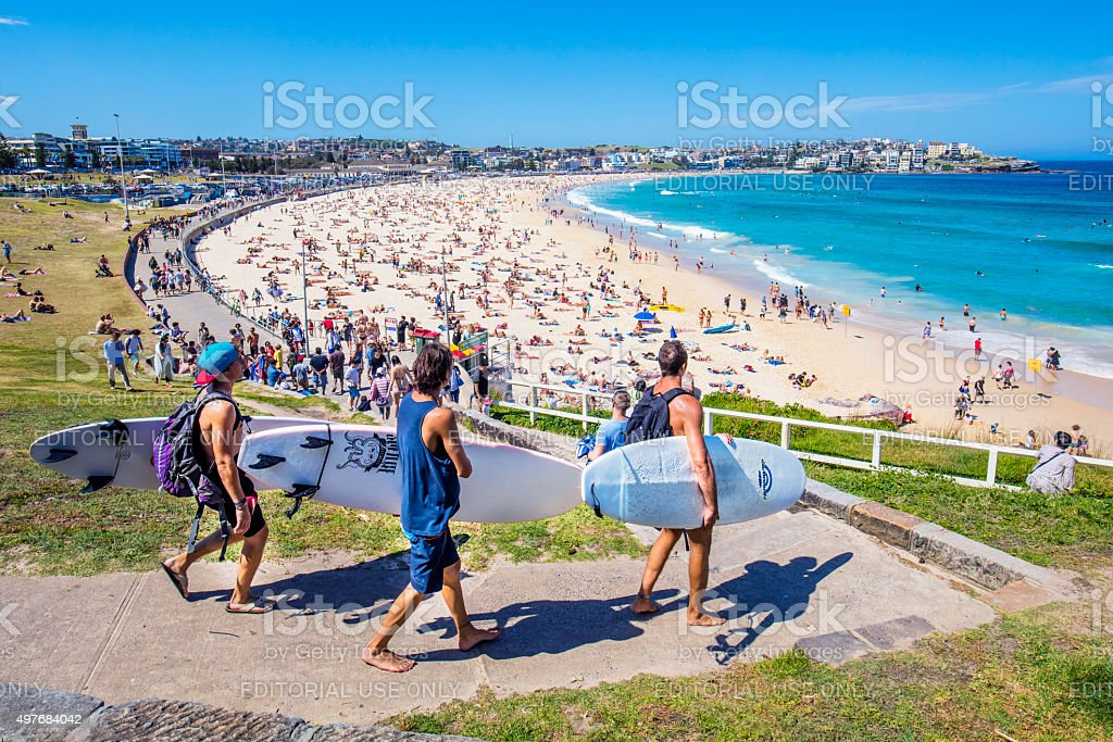 Bondi beach stock photo