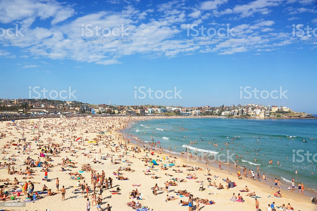 Bondi Beach - Summer Crowds stock photo
