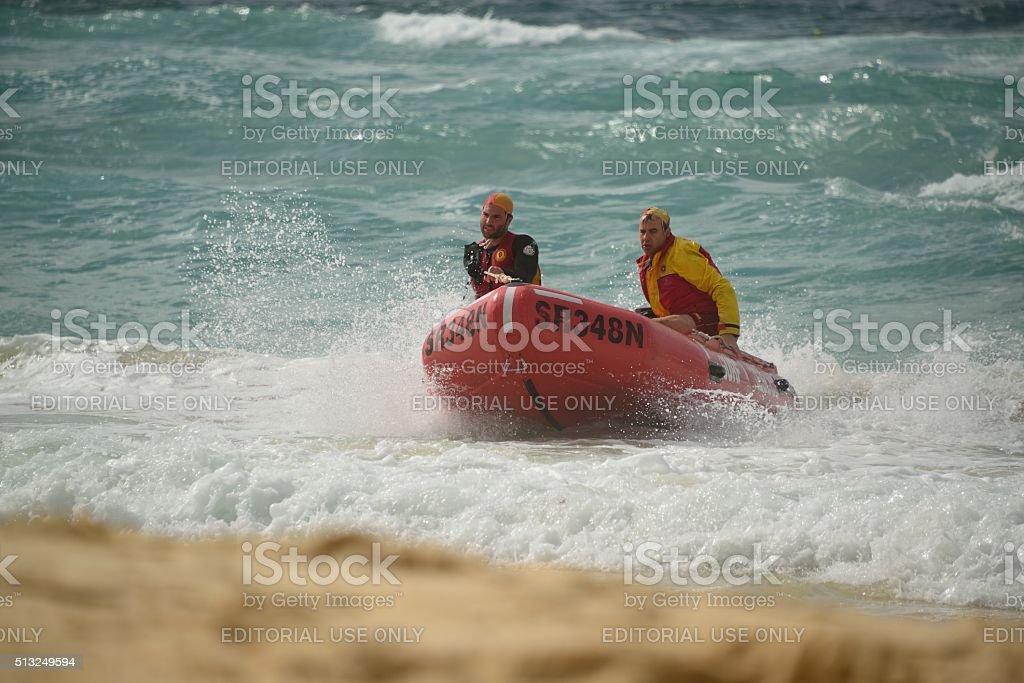 Bondi Beach, Surf Rescue stock photo