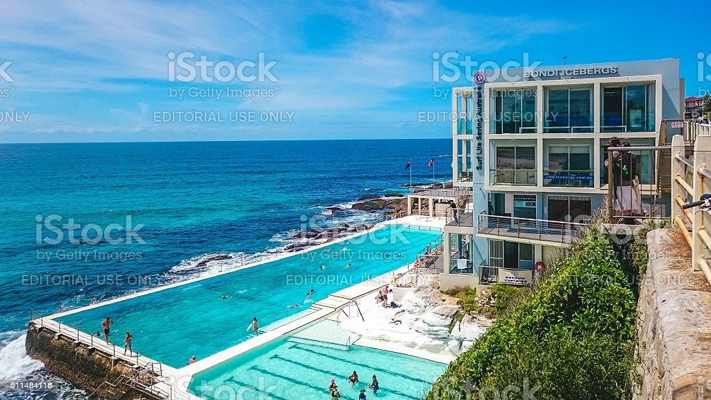 Bondi Icebergs in Sydney, Australia stock photo