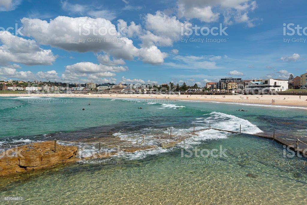 Bondi North Rocks on a sunny day, Sydney, Australia. stock photo
