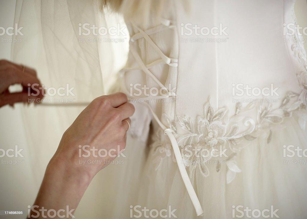 bonding a corset stock photo