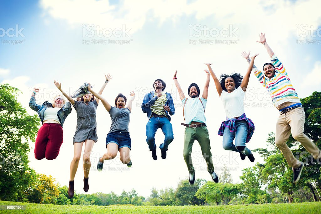 Bonding Community Friends Team Togetherness Unity Concept stock photo