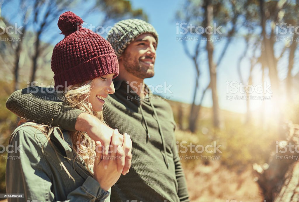 Bonding on the trails stock photo