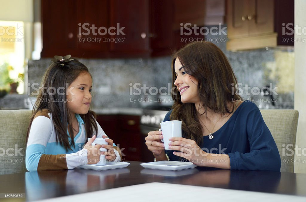 Bonding over some hot chocolate royalty-free stock photo
