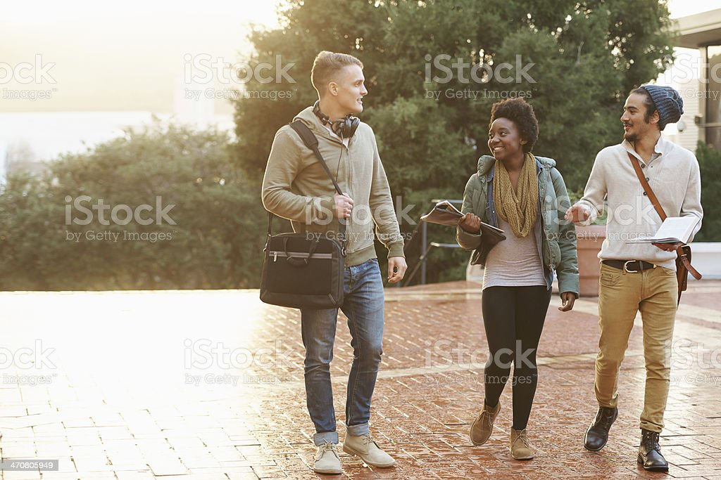 Bonding over their ambition to do well stock photo