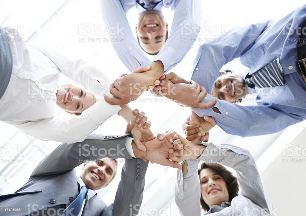 Bonding through business ambition! stock photo