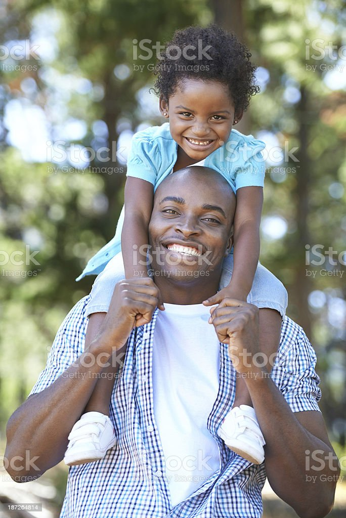 Bonding time with Daddy stock photo