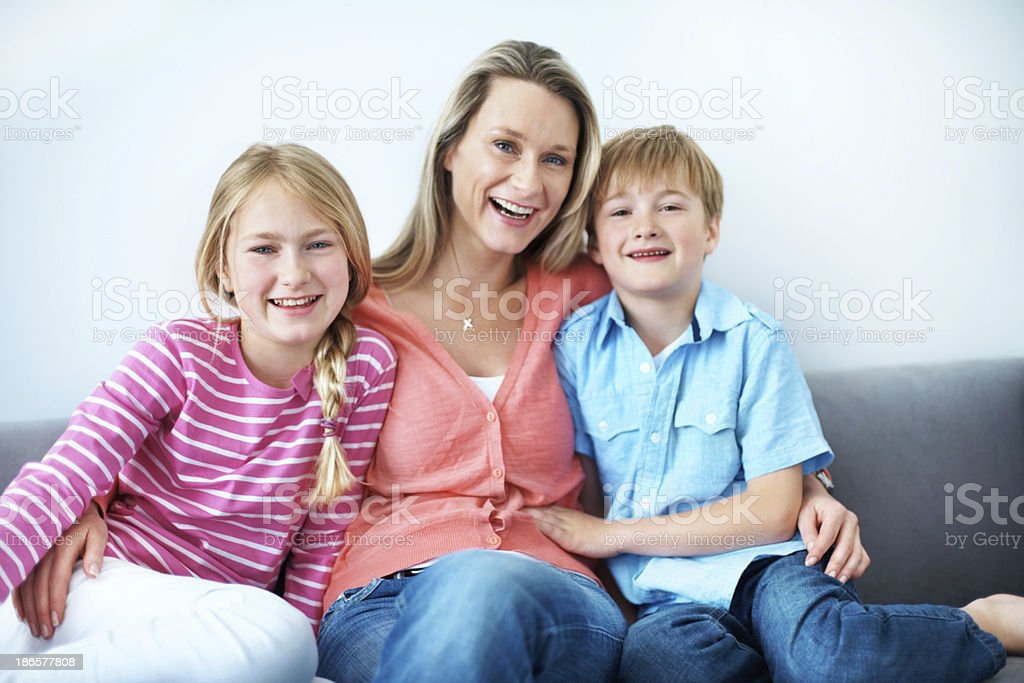 Bonding time with mom royalty-free stock photo
