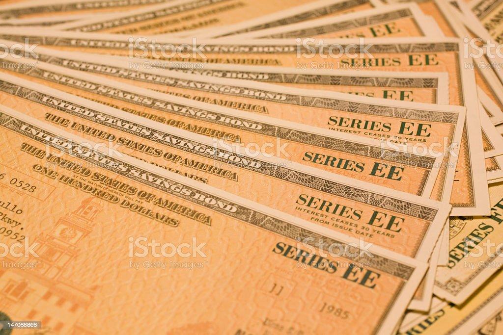 EE Bonds stock photo