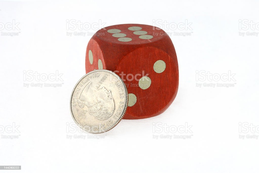 bone and coin stock photo