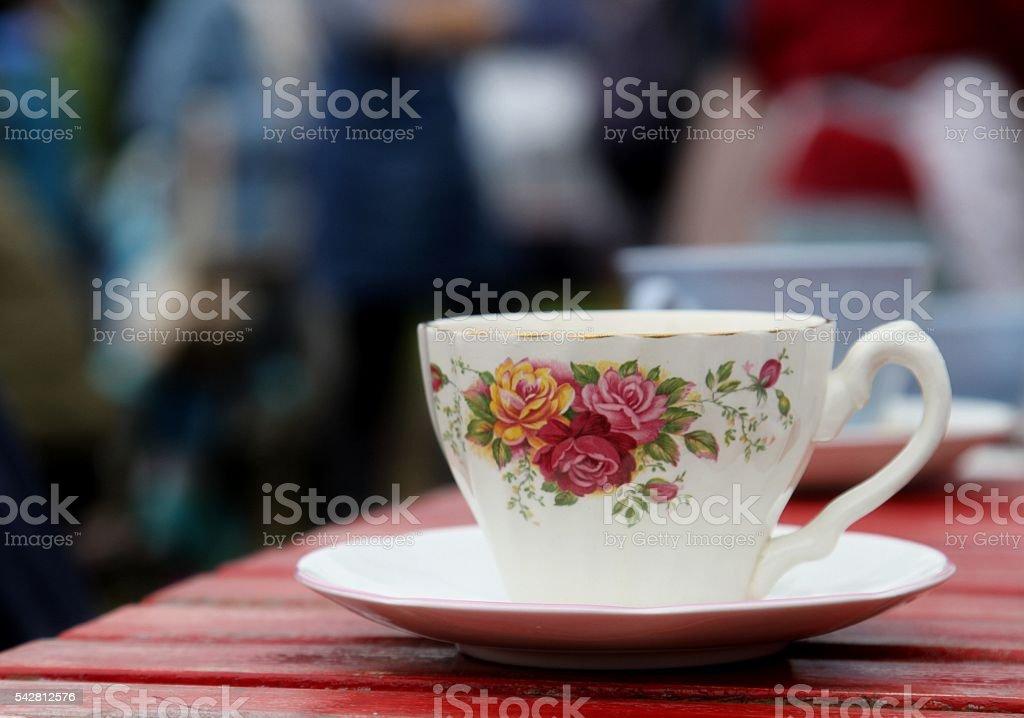 bone china teacup stock photo