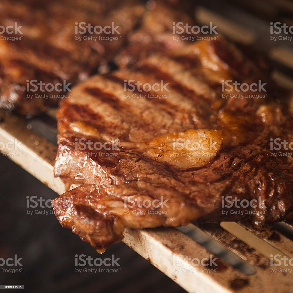 Bone-in rib eyes royalty-free stock photo