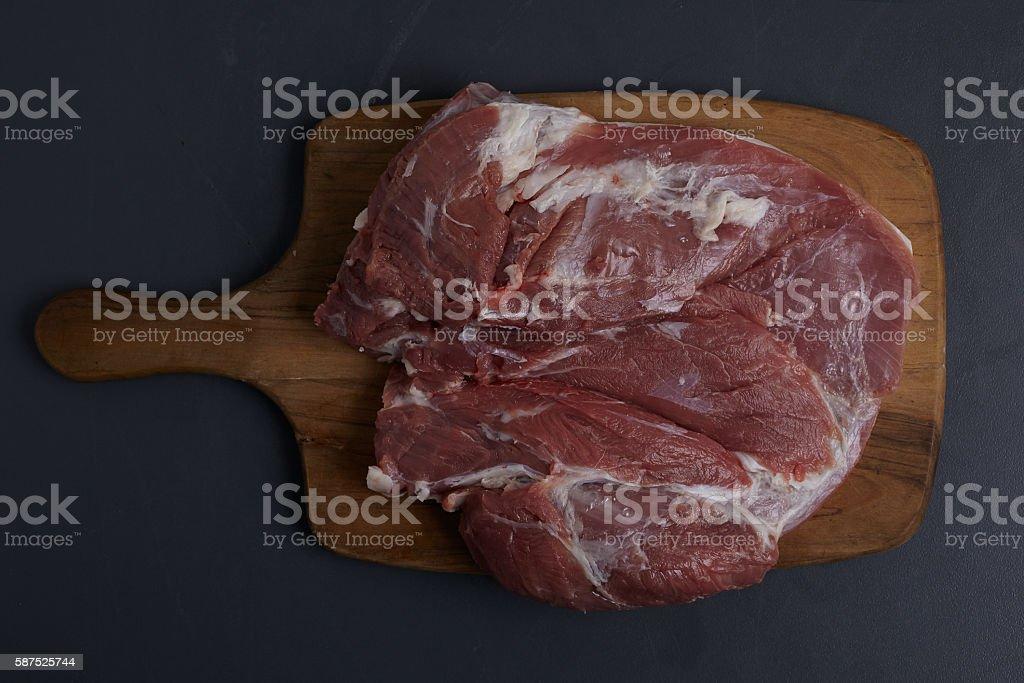 Boneless Lamb Shoulder stock photo
