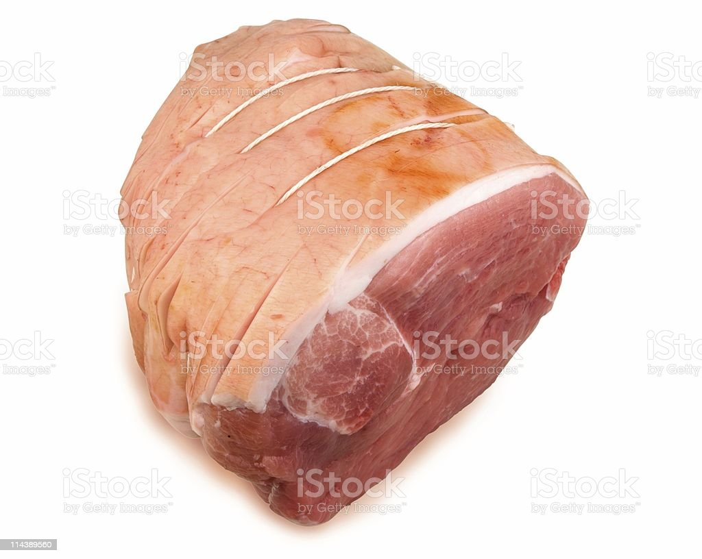 Boneless Leg Of Pork stock photo