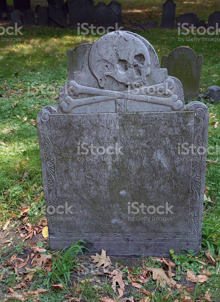 Bones below! stock photo