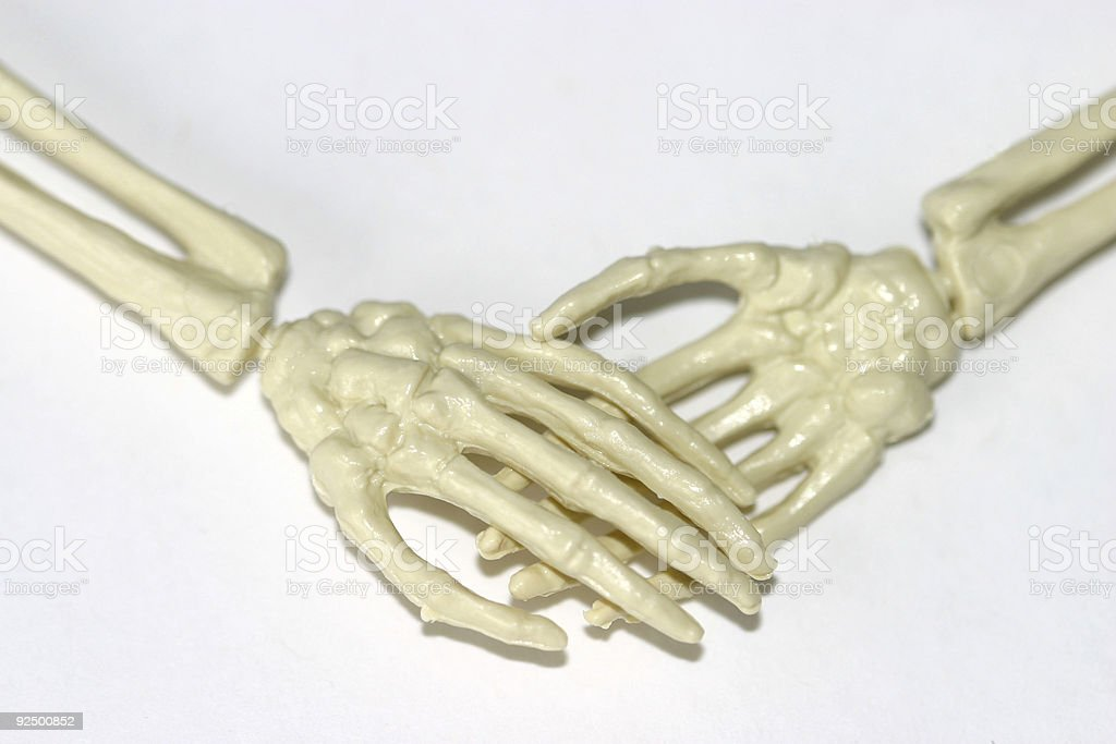 boney handshake 2 royalty-free stock photo