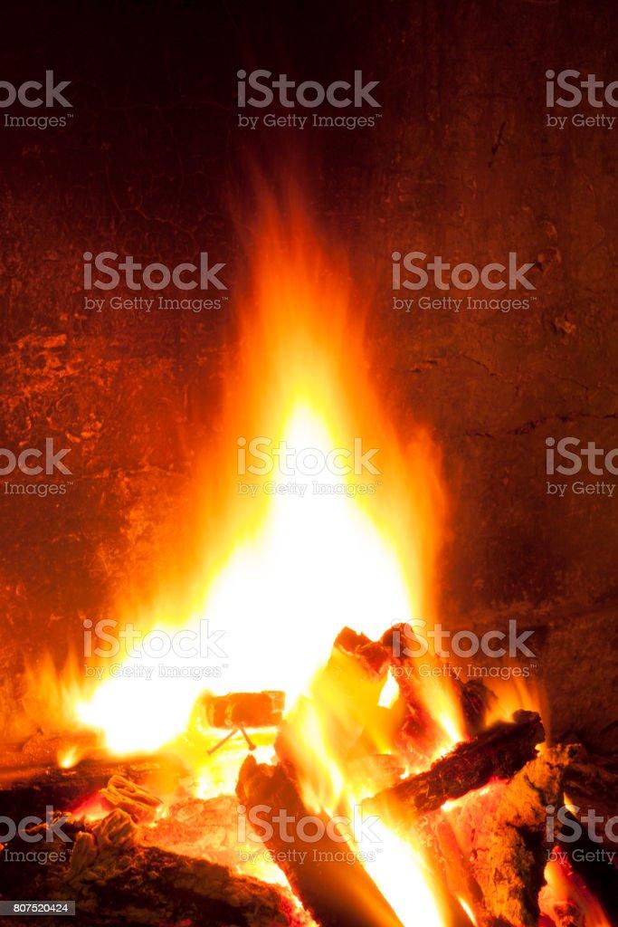 Bonfire at night stock photo