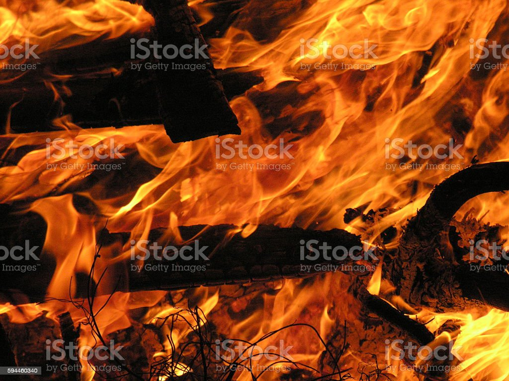 Bonfire Close Up stock photo
