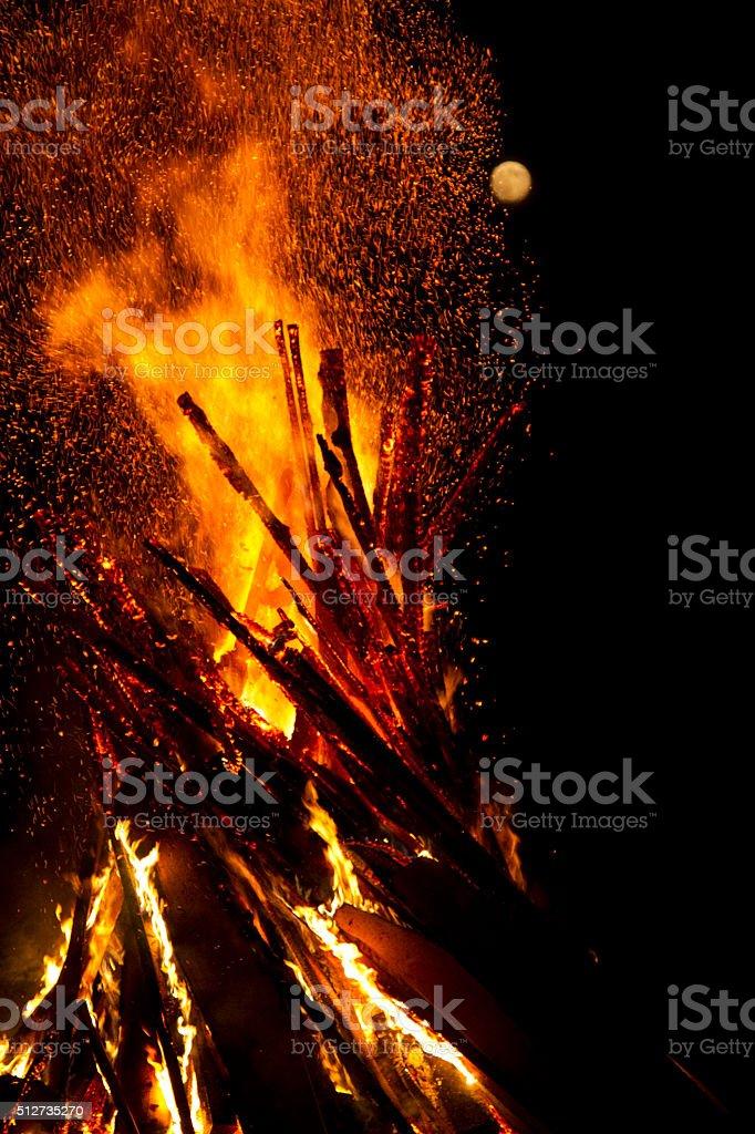Bonfire II stock photo