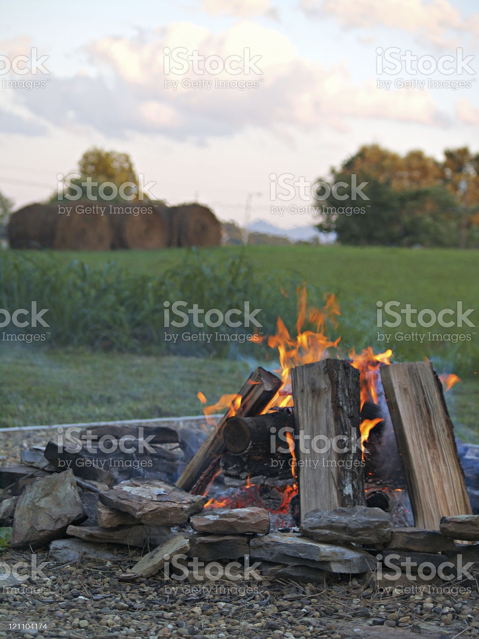 Bonfire in the Country royalty-free stock photo