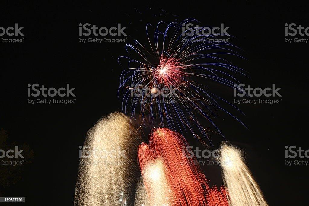 Bonfire Night, Fireworks royalty-free stock photo