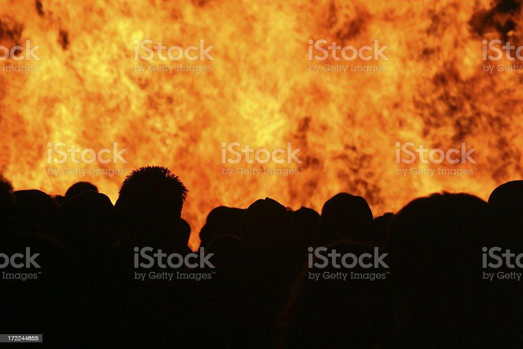Bonfire Night Silhouette stock photo