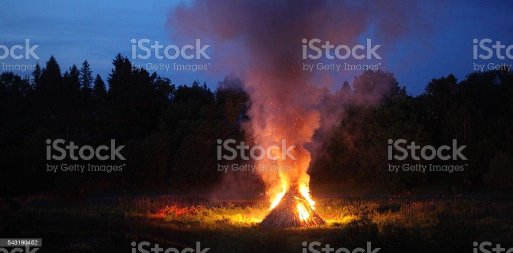 Bonfire stock photo