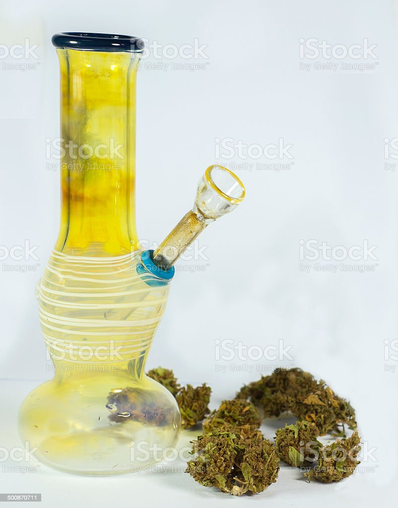 Bong and buds 2 stock photo
