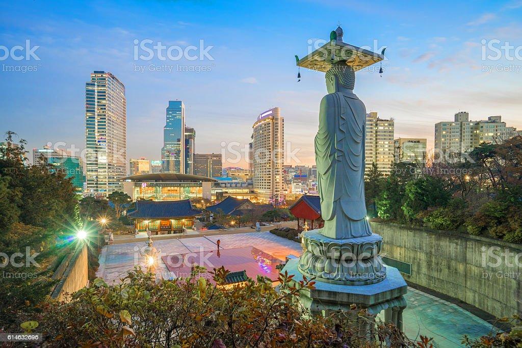 Bongeunsa Temple in the Gangnam District of Seoul, Korea stock photo