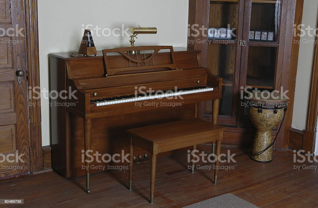 bongo and piano royalty-free stock photo