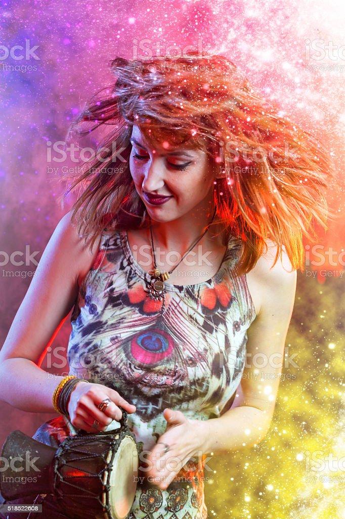 Bongo dance stock photo