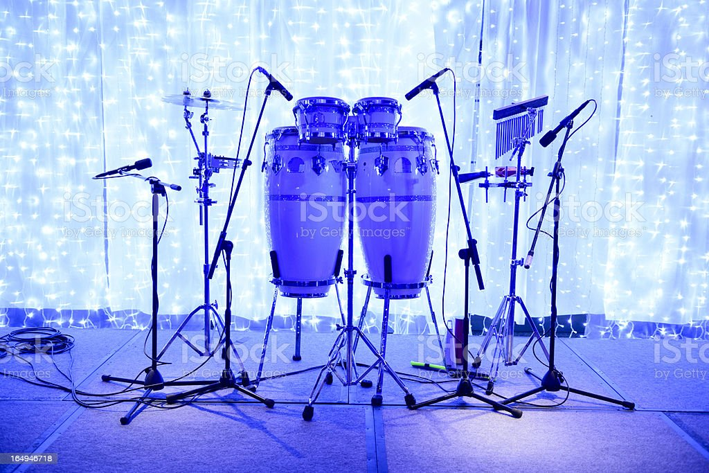 Bongo Drums Stage Set royalty-free stock photo