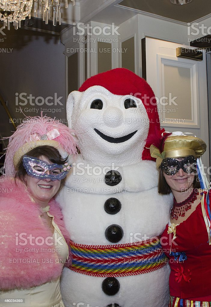 Bonhomme Caraval and fans stock photo
