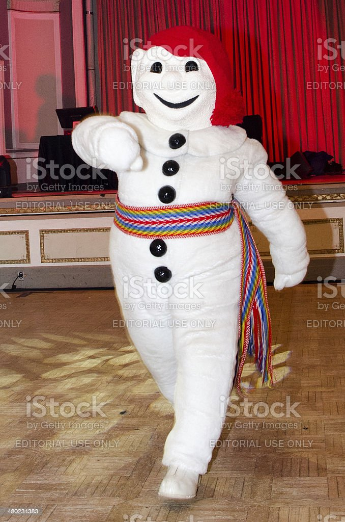 Bonhomme Carnaval dancing stock photo