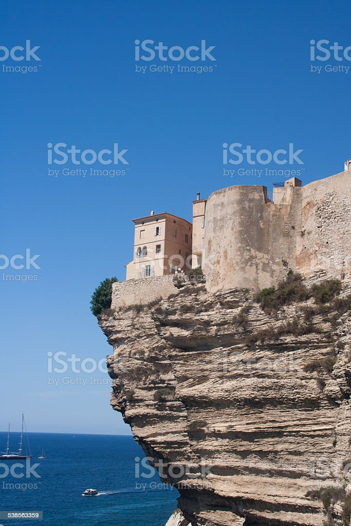 Bonifacio citadel stock photo