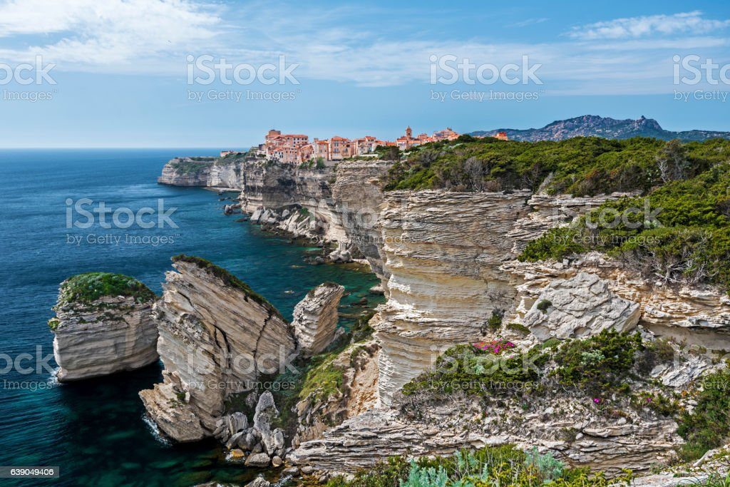 Bonifacio Cliffs stock photo