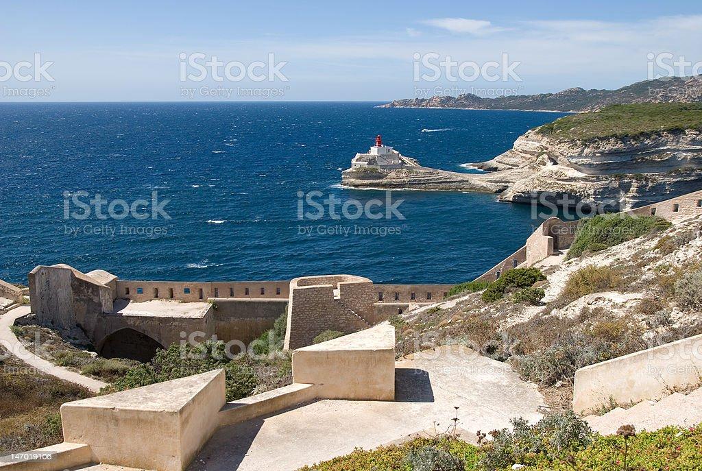 Bonifacio Corse Zitadelle stock photo