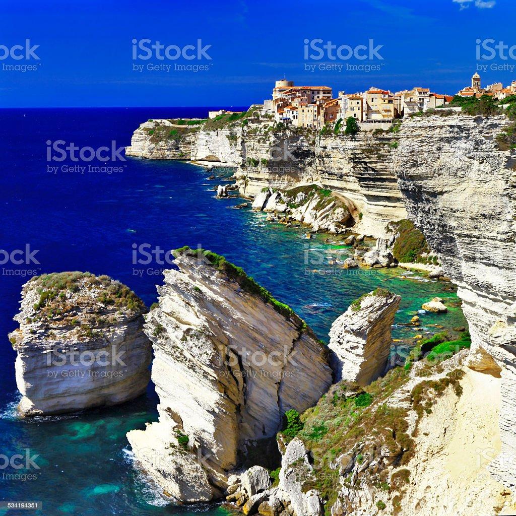 Bonifacio. Corsica stock photo