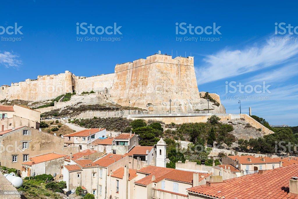 Bonifacio fortress stock photo