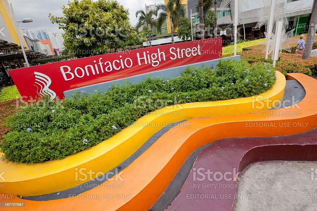 Bonifacio High Street stock photo