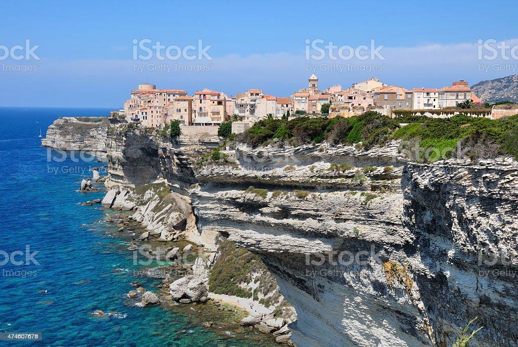 Bonifacio in Corsica stock photo