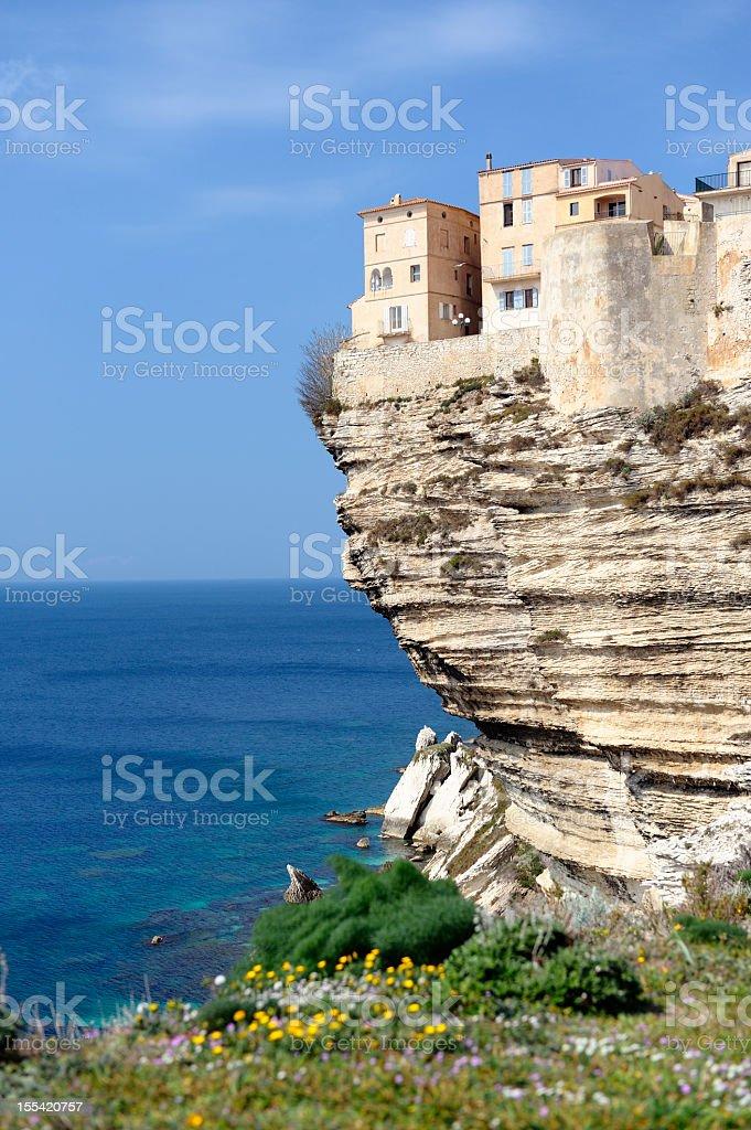 Bonifacio on the Island of Corsica stock photo