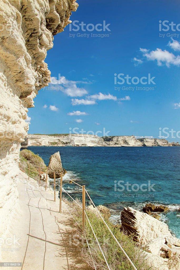 Bonifacio - Picturesque?Capital of Corsica, France stock photo
