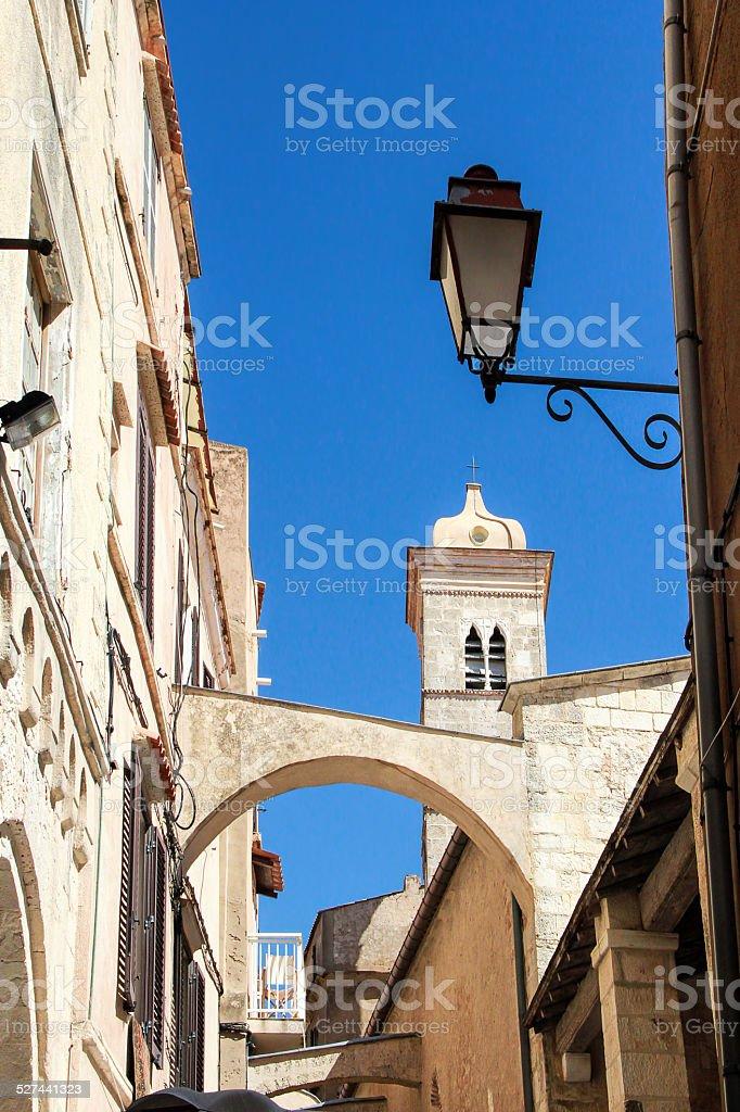 Bonifacio - PicturesqueCapital of Corsica, France stock photo