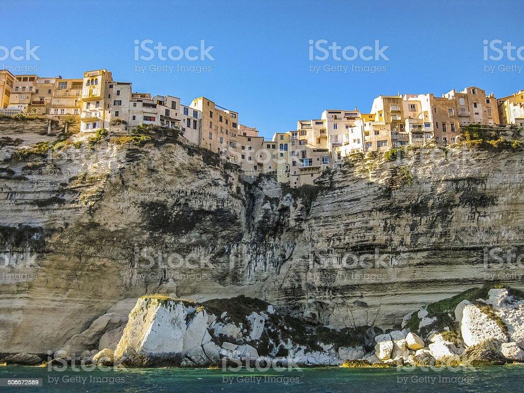 Bonifacio skyline, Corsica, France stock photo