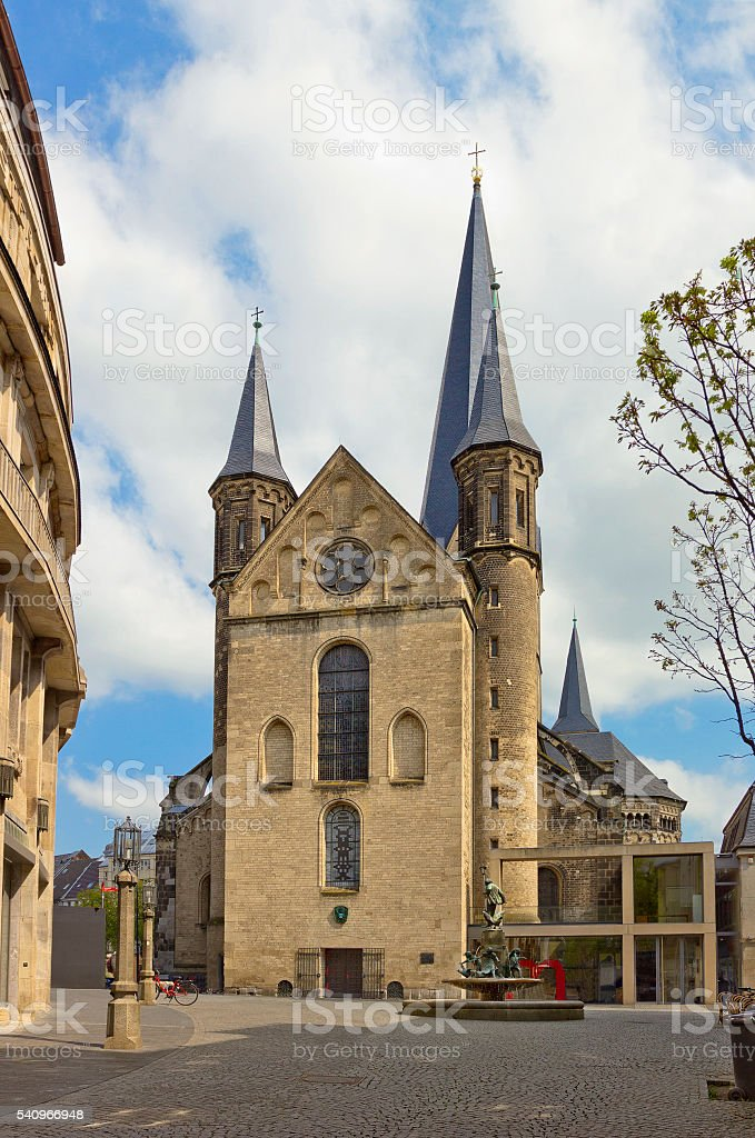 Bonn cathedral (Minster of St. Martin's), Germany stock photo
