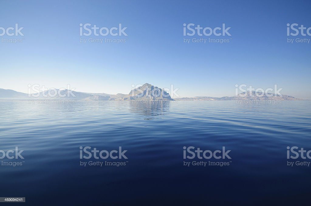 Riserva Cofano, Trapani in Sicily royalty-free stock photo